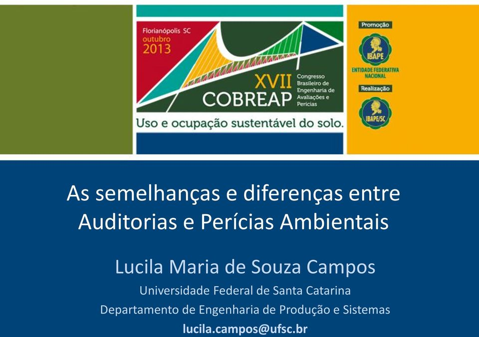 Universidade Federal de Santa Catarina Departamento