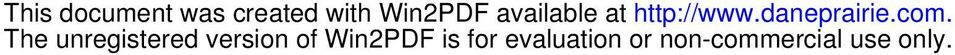 The unregistered version of Win2PDF is