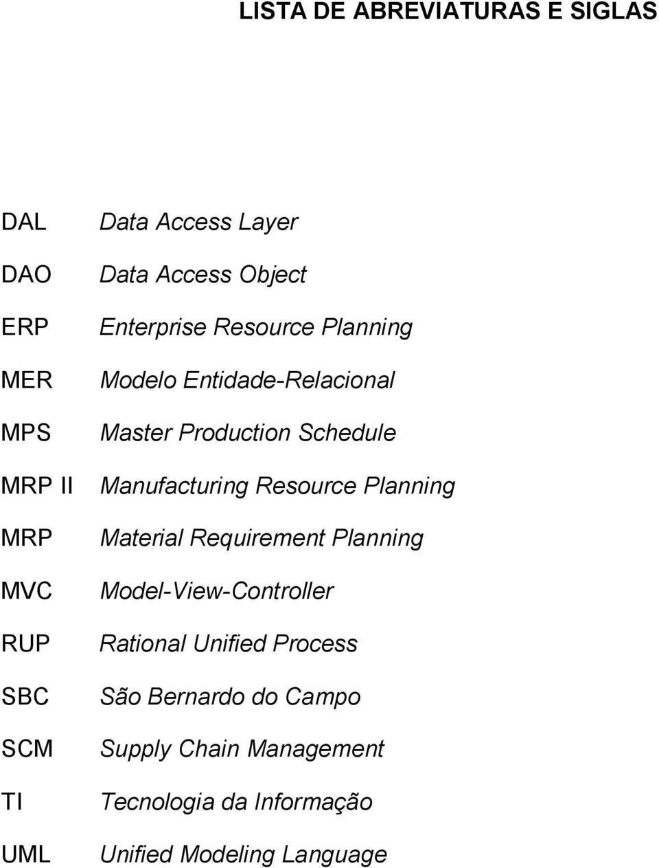 Manufacturing Resource Planning Material Requirement Planning Model-View-Controller Rational Unified