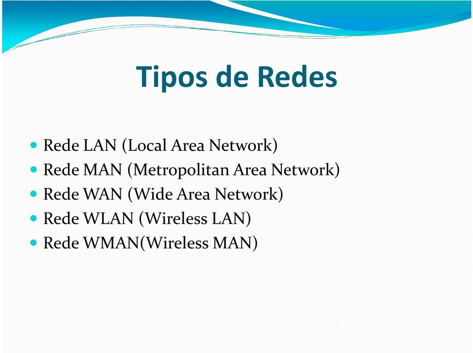 Network) Rede WAN (Wide Area Network)