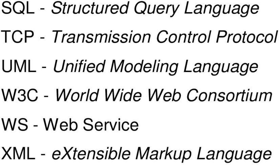 Modeling Language W3C - World Wide Web