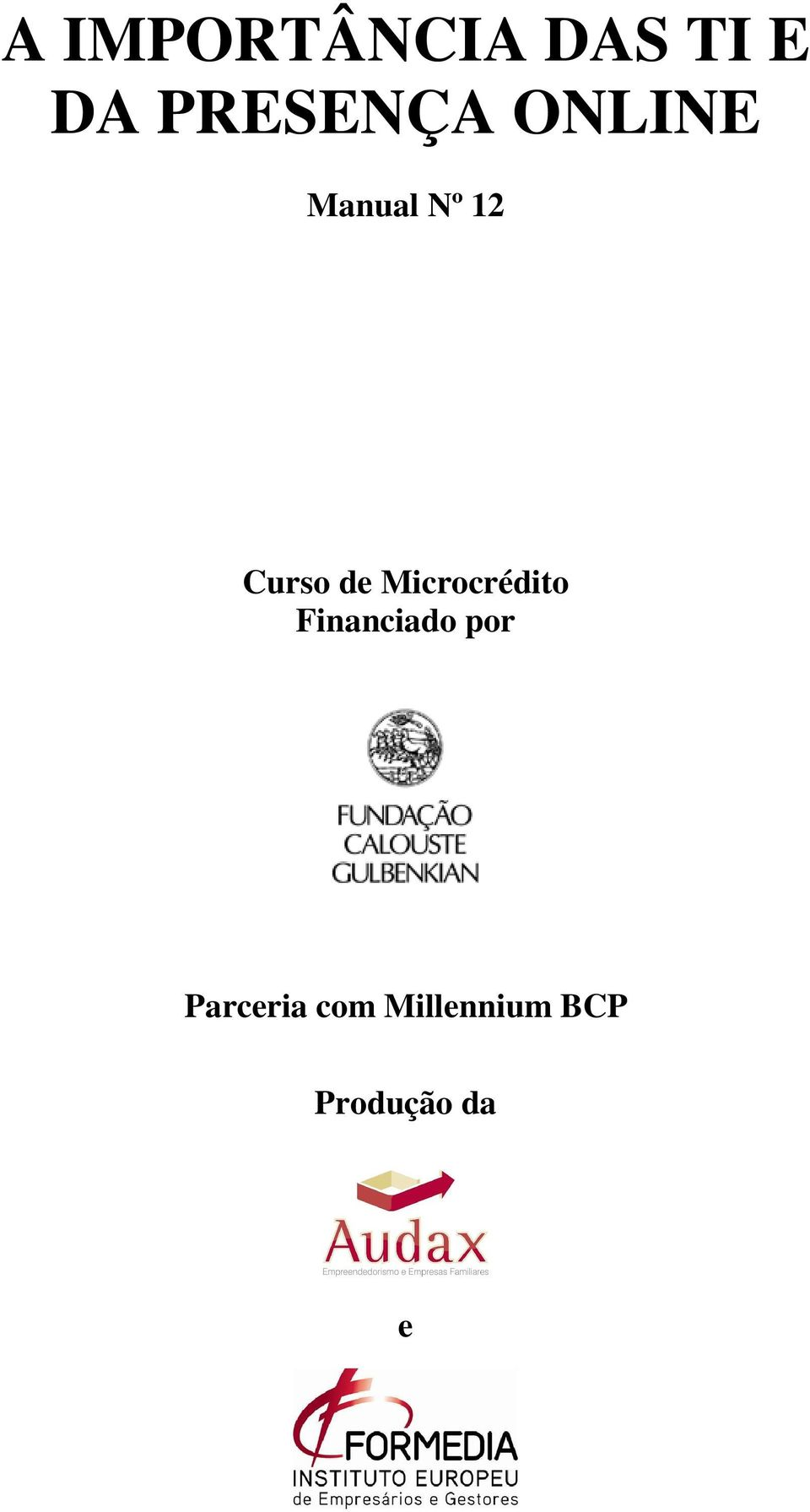 Curso de Microcrédito Financiado