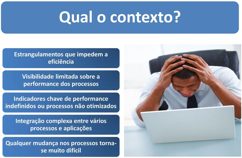 performance dos processos Indicadores chave de performance indefinidos ou