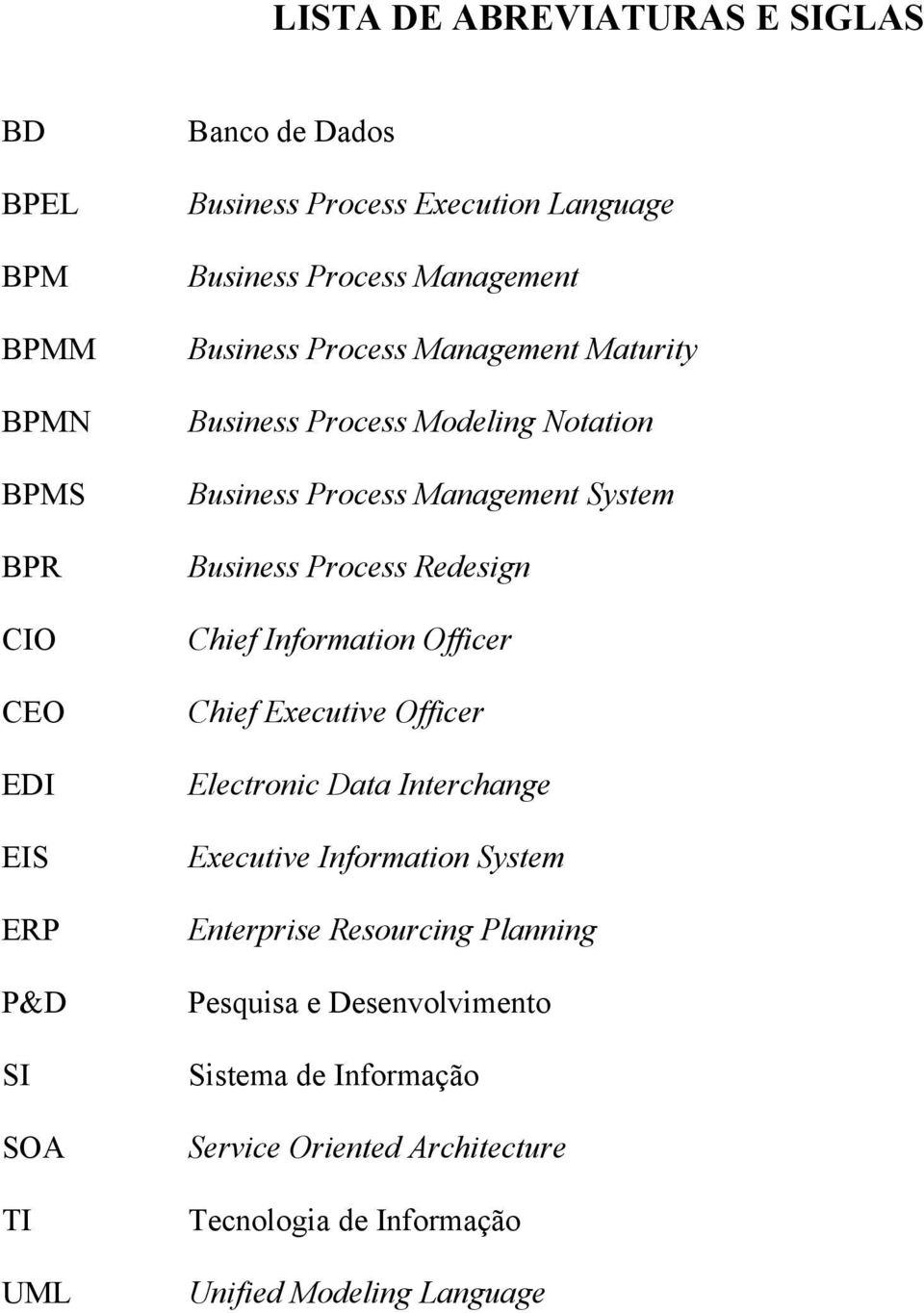 Information Officer CEO Chief Executive Officer EDI Electronic Data Interchange EIS Executive Information System ERP Enterprise Resourcing