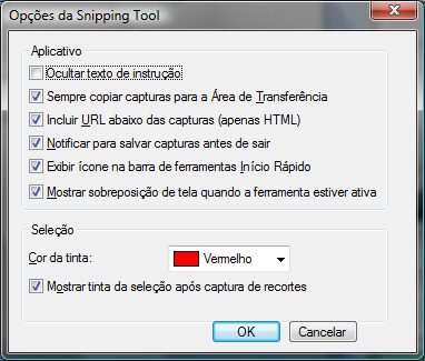 Snipping Tool (Ferramenta de captura e recorte) Ferramenta do Windows que permite capturar telas e inclusive personalizar os recortes.