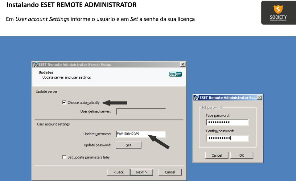 account Settings informe o