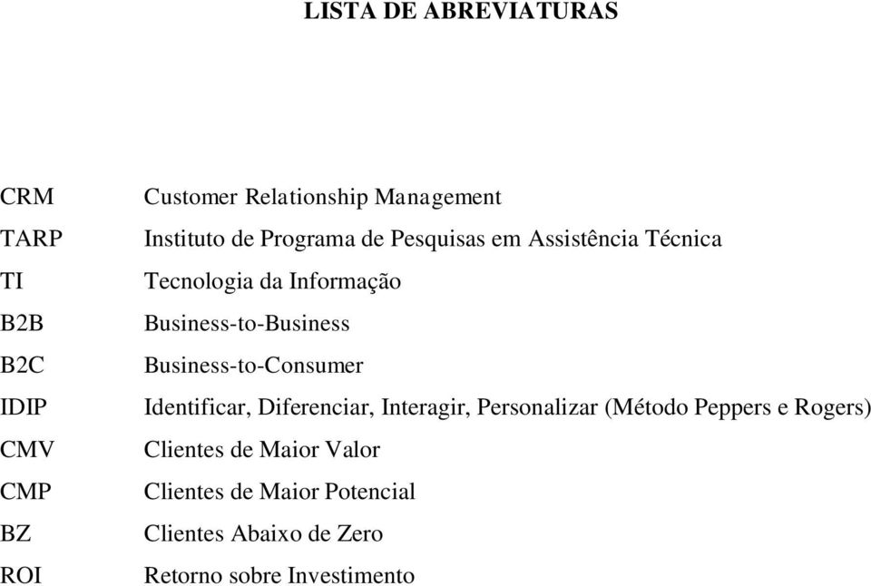 Business-to-Business Business-to-Consumer Identificar, Diferenciar, Interagir, Personalizar (Método