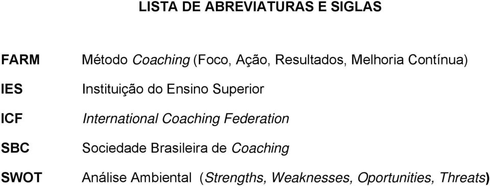 Superior International Coaching Federation Sociedade Brasileira de