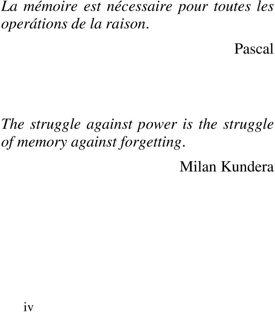 Pascal The struggle against power is the