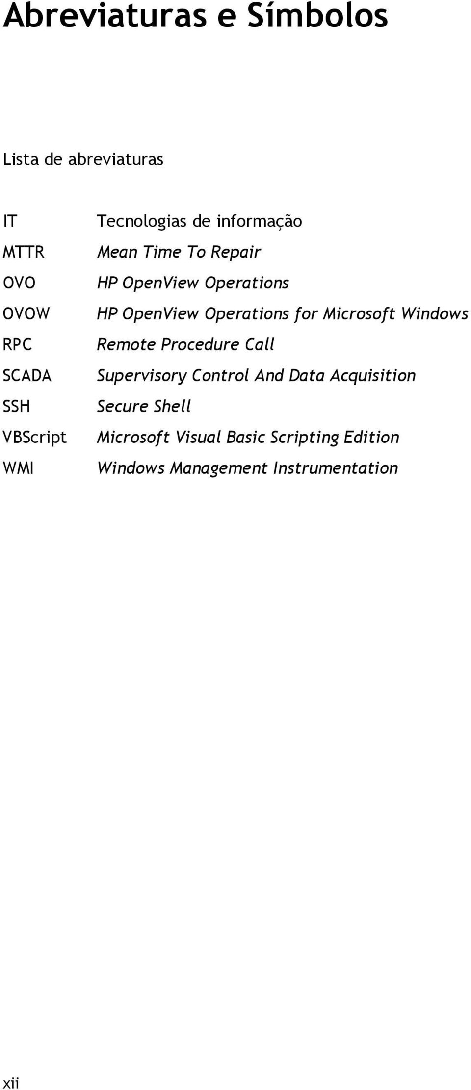 Operations for Microsoft Windows Remote Procedure Call Supervisory Control And Data