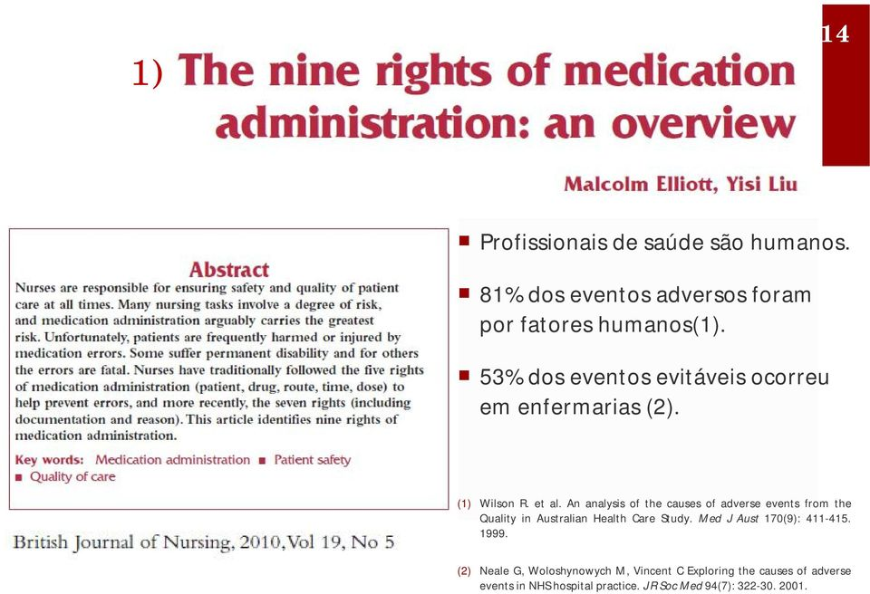 An analysis of the causes of adverse events from the Quality in Australian Health Care Study.