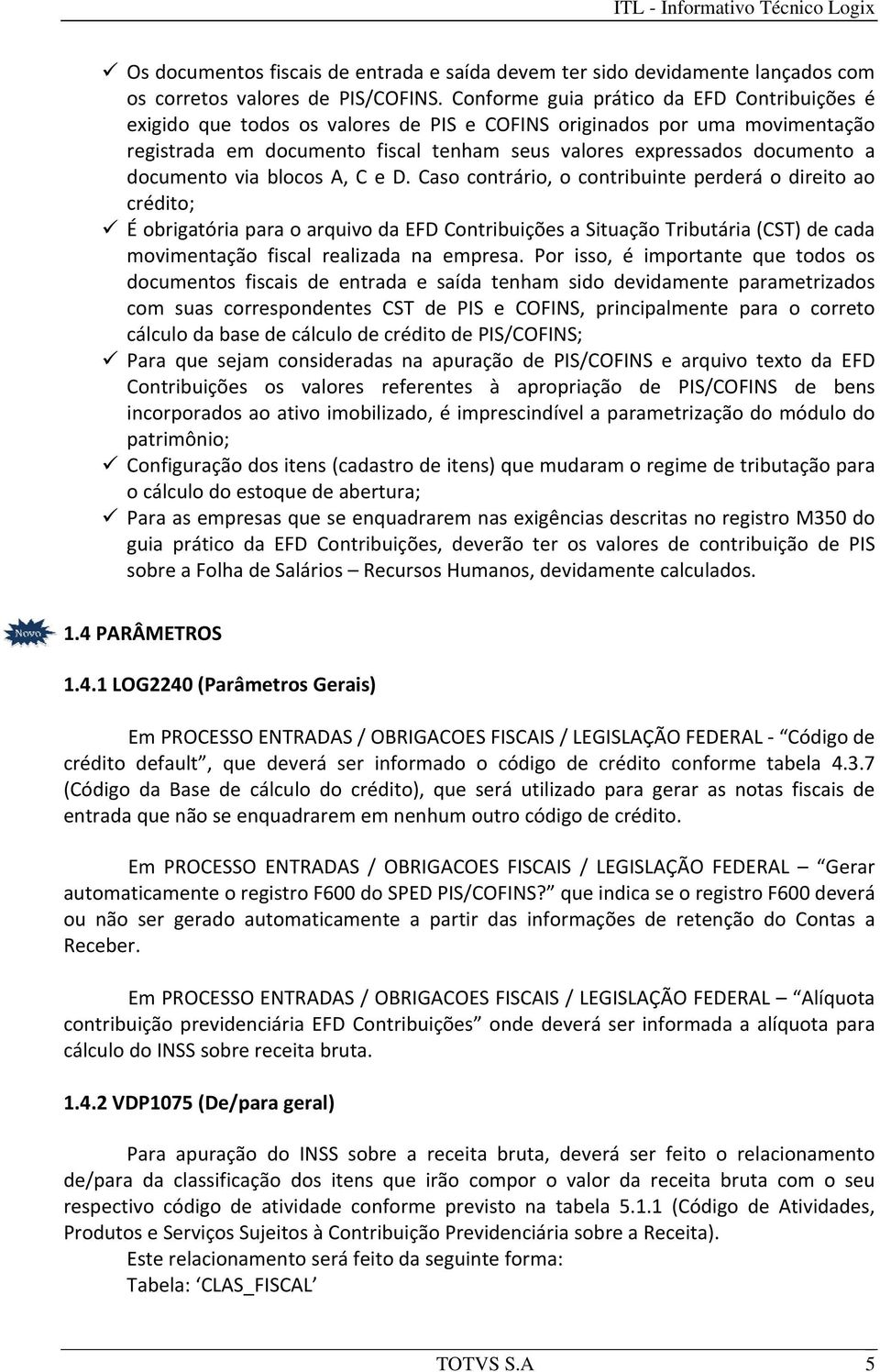 documento via blocos A, C e D.