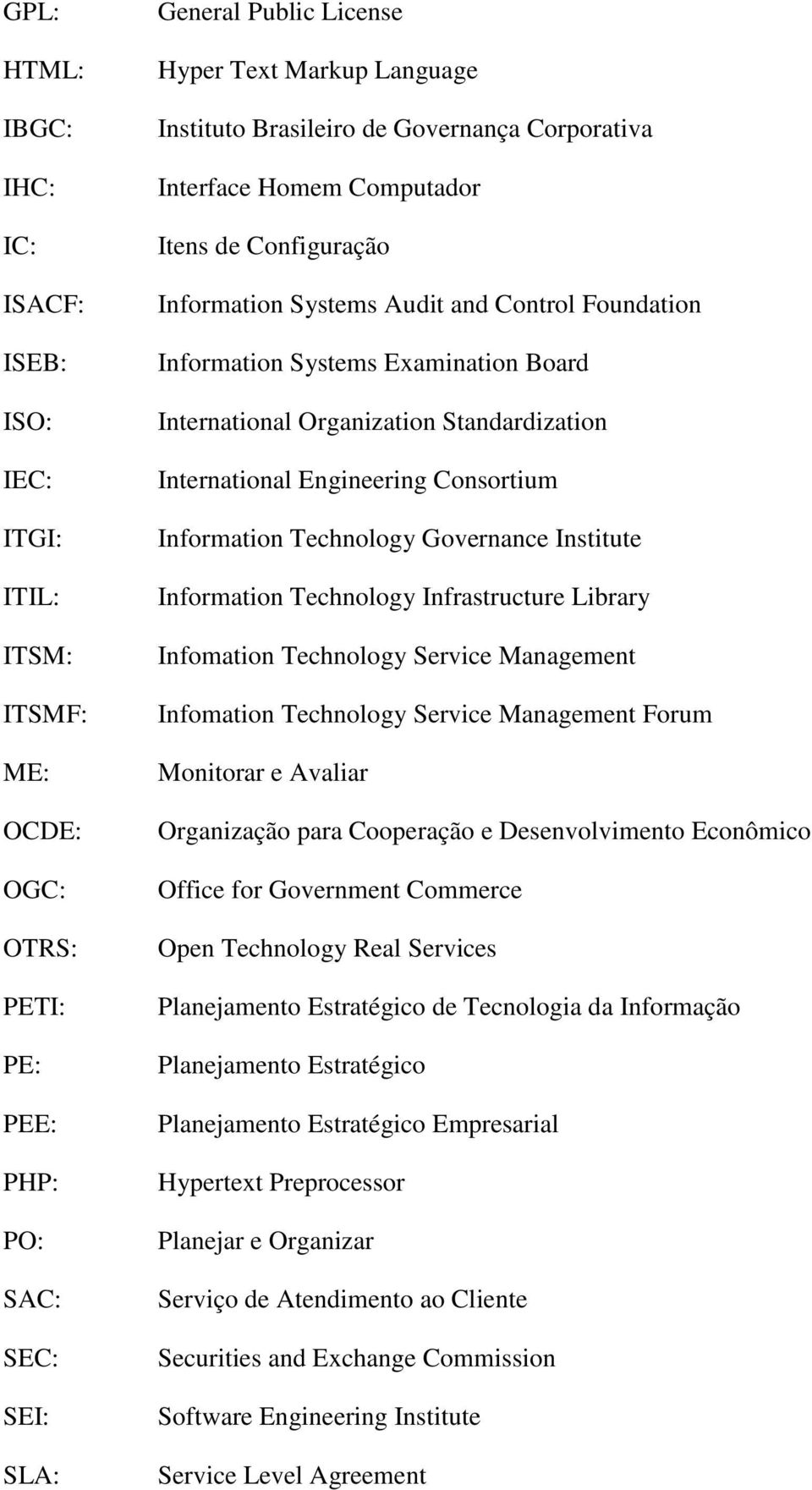 Standardization International Engineering Consortium Information Technology Governance Institute Information Technology Infrastructure Library Infomation Technology Service Management Infomation