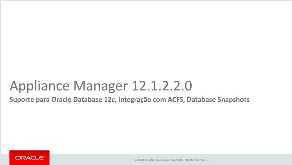 Oracle Database 12c,
