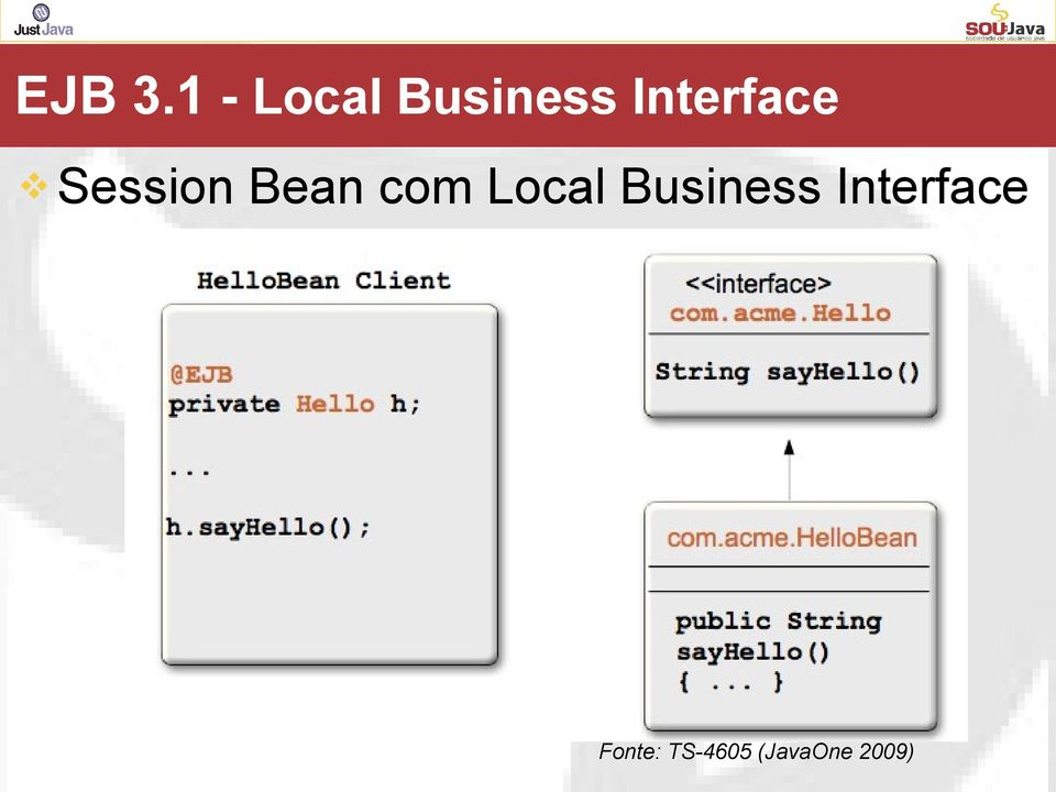 Interface Session Bean com
