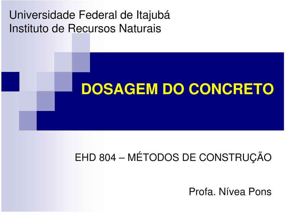 DOSAGEM DO CONCRETO EHD 804