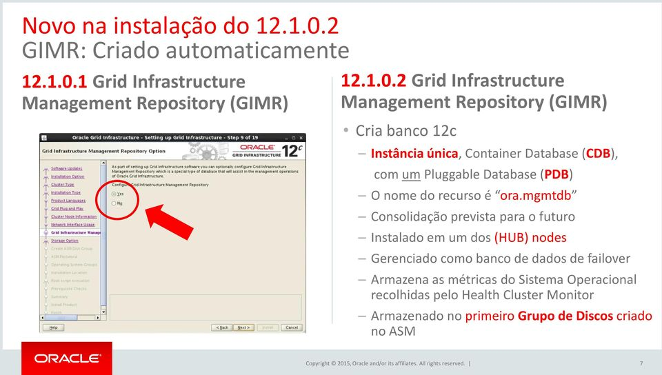 1 Grid Infrastructure Management Repository (GIMR) 12.1.0.
