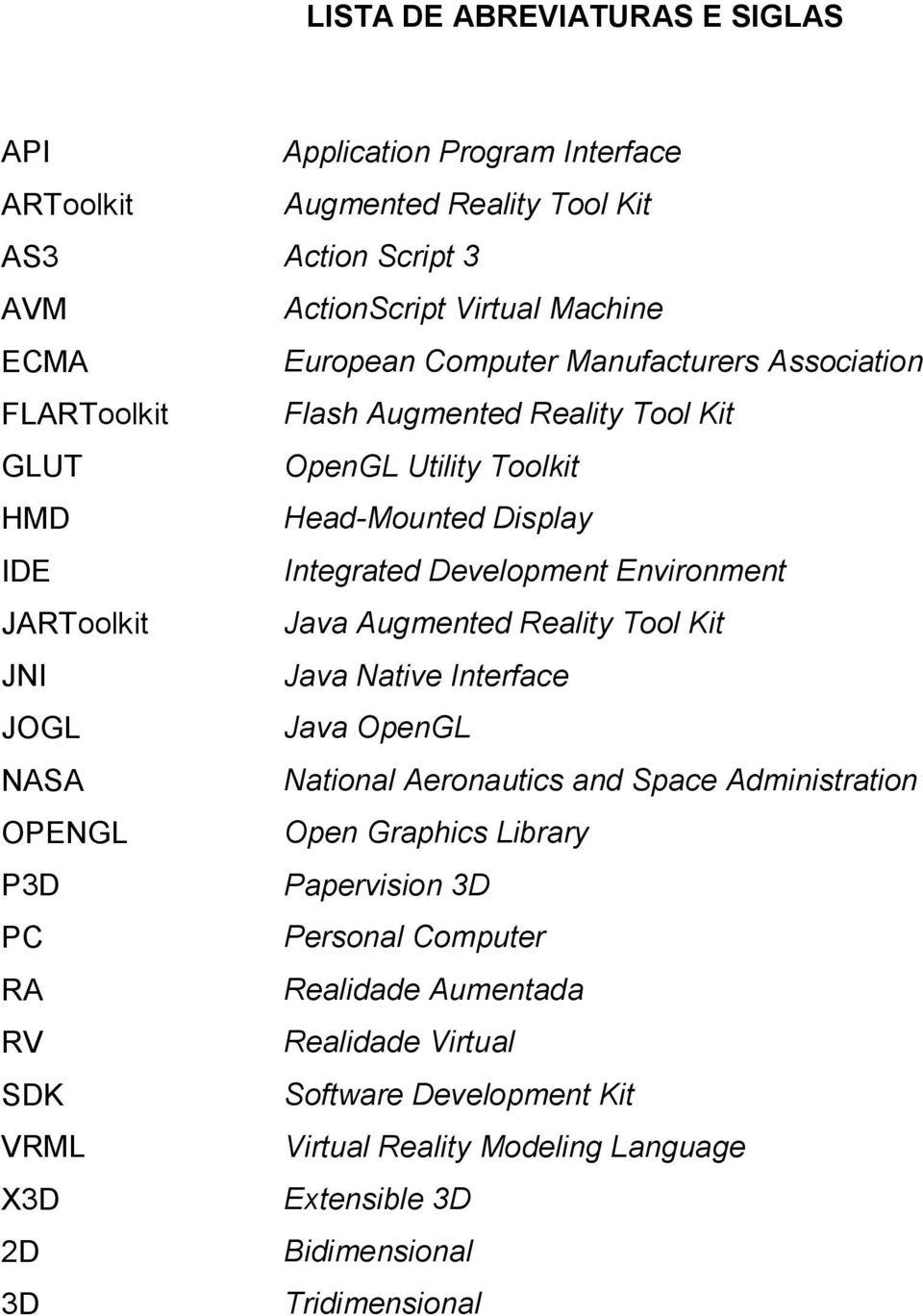 Head-Mounted Display Integrated Development Environment Java Augmented Reality Tool Kit Java Native Interface Java OpenGL National Aeronautics and Space Administration Open