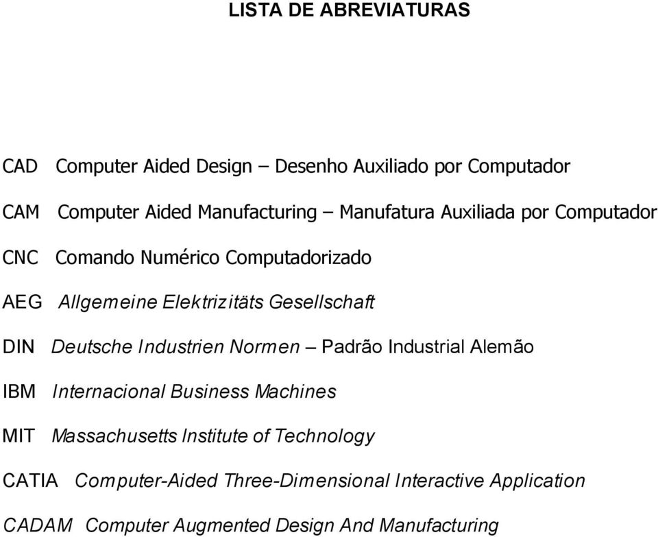 Deutsche Industrien Normen Padrão Industrial Alemão IBM Internacional Business Machines MIT Massachusetts lnstitute of