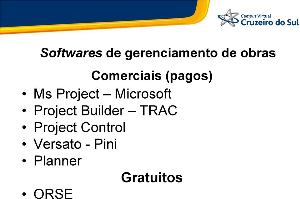 Microsoft Project Builder TRAC