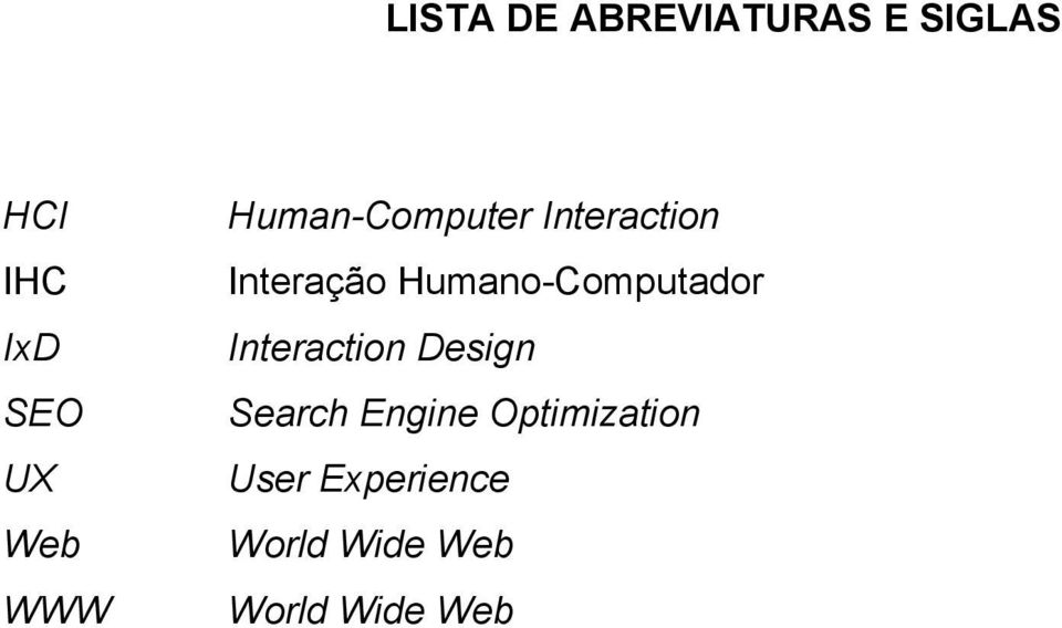 Humano-Computador Interaction Design Search Engine