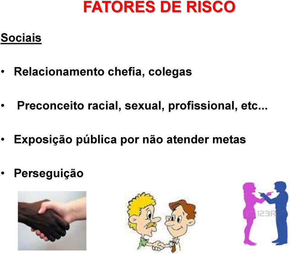 Preconceito racial, sexual,