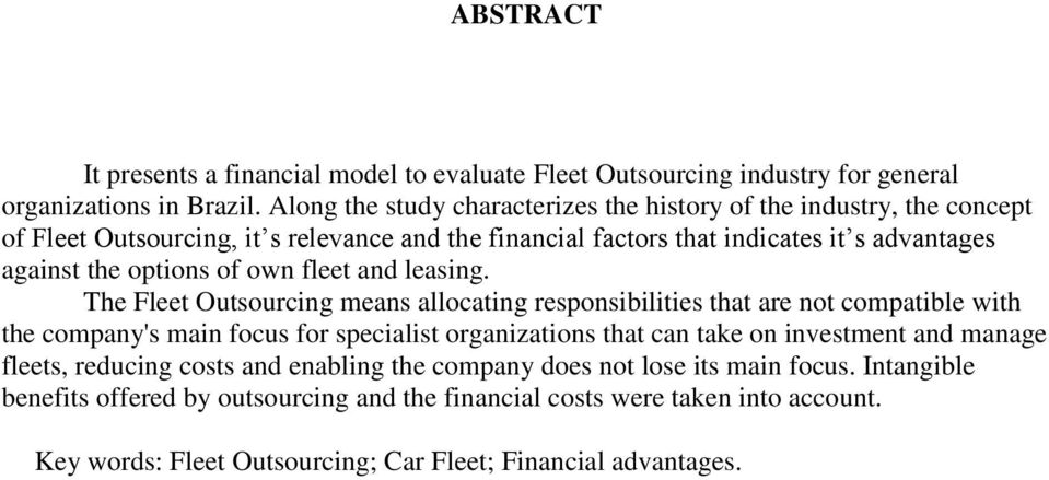 options of own fleet and leasing.