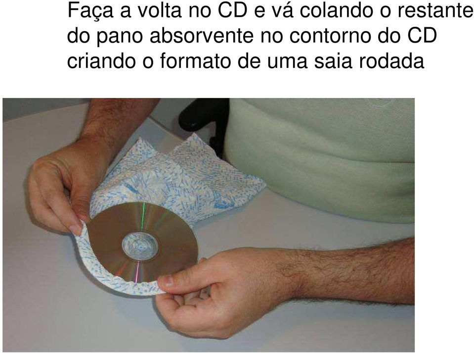 absorvente no contorno do CD