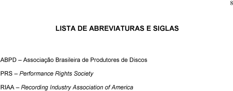 Discos PRS Performance Rights Society