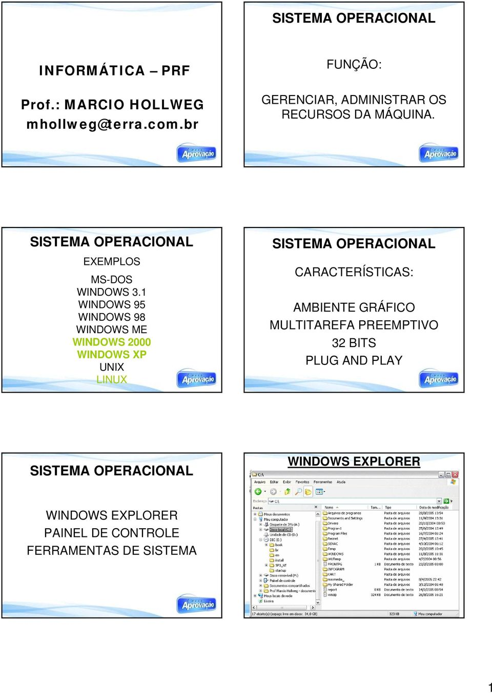 1 WINDOWS 95 WINDOWS 98 WINDOWS ME WINDOWS 2000 WINDOWS XP UNIX LINUX SISTEMA OPERACIONAL CARACTERÍSTICAS: