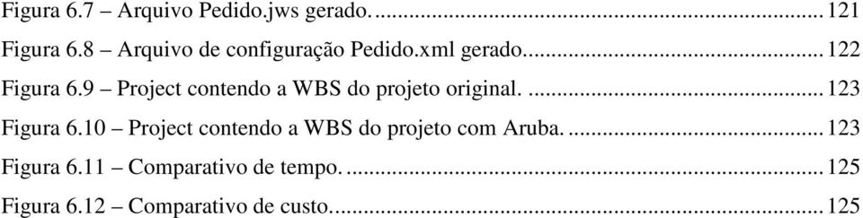 9 Project contendo a WBS do projeto original.... 123 Figura 6.