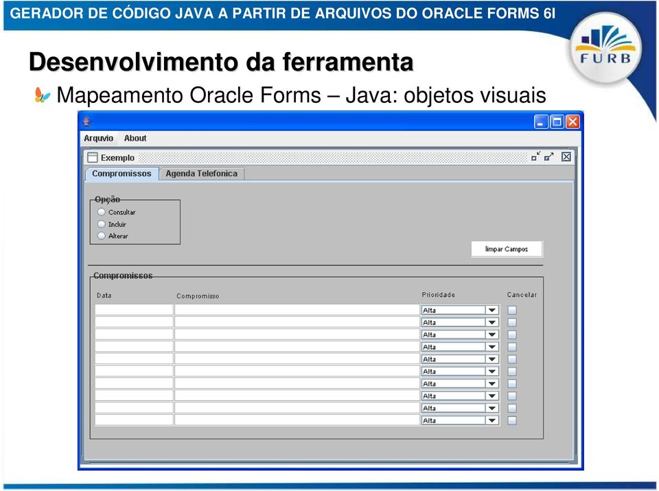 Forms Java: