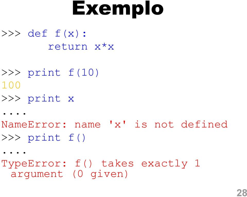 .. NameError: name 'x' is not defined () f
