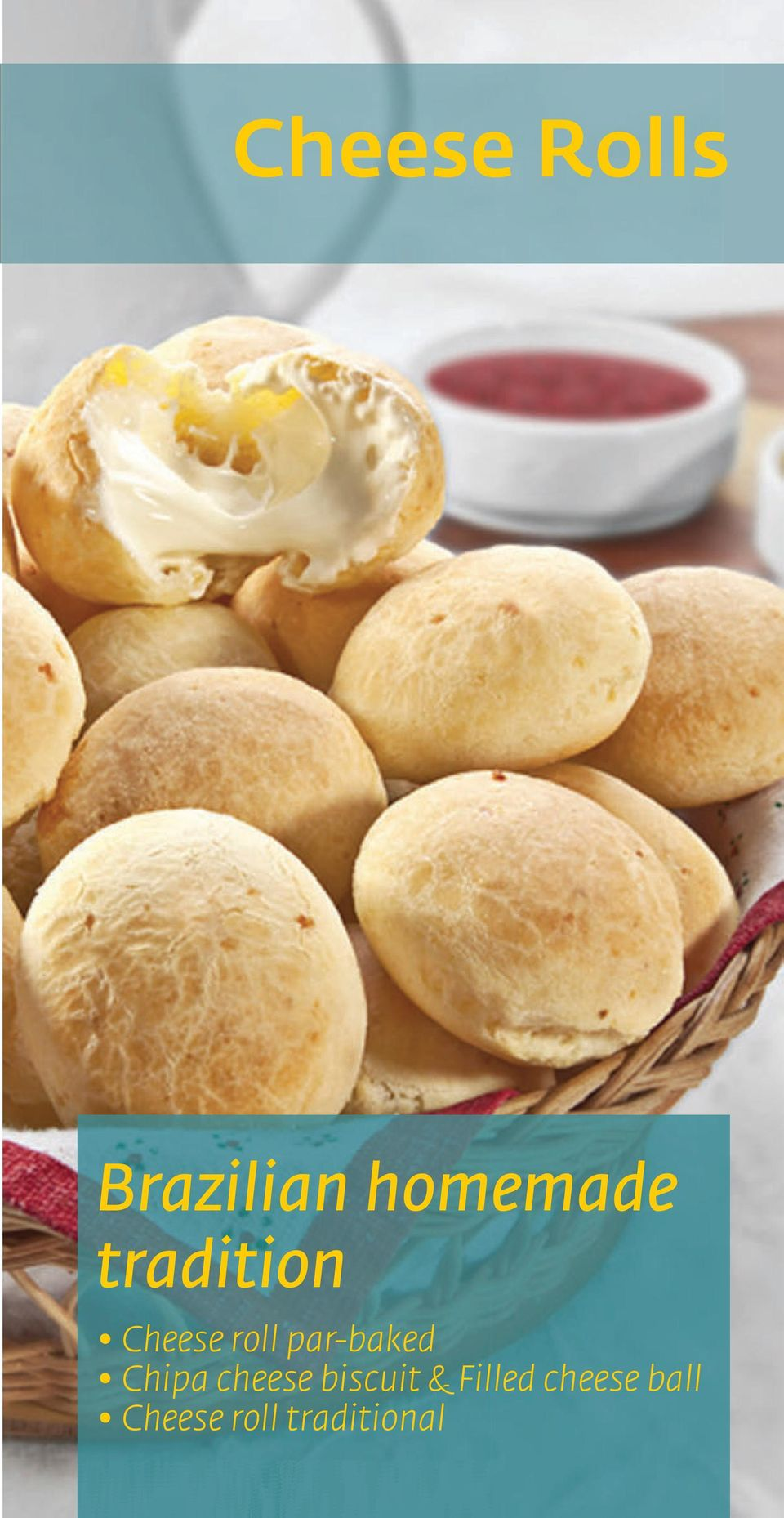 Chipa cheese biscuit & Filled