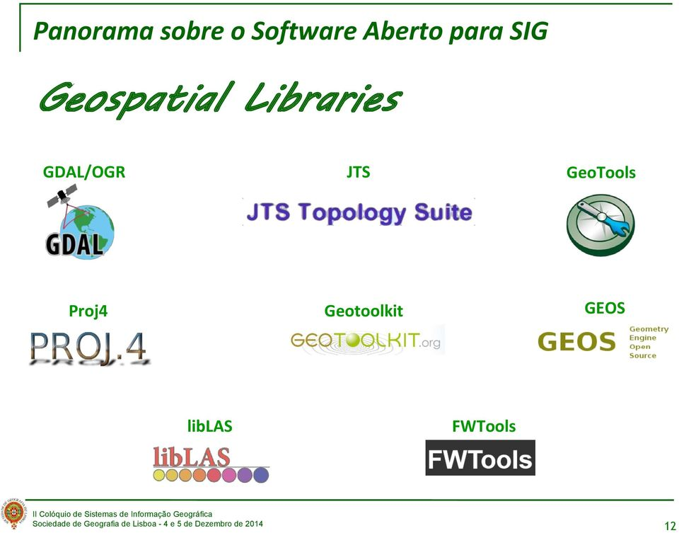 Libraries GDAL/OGR JTS