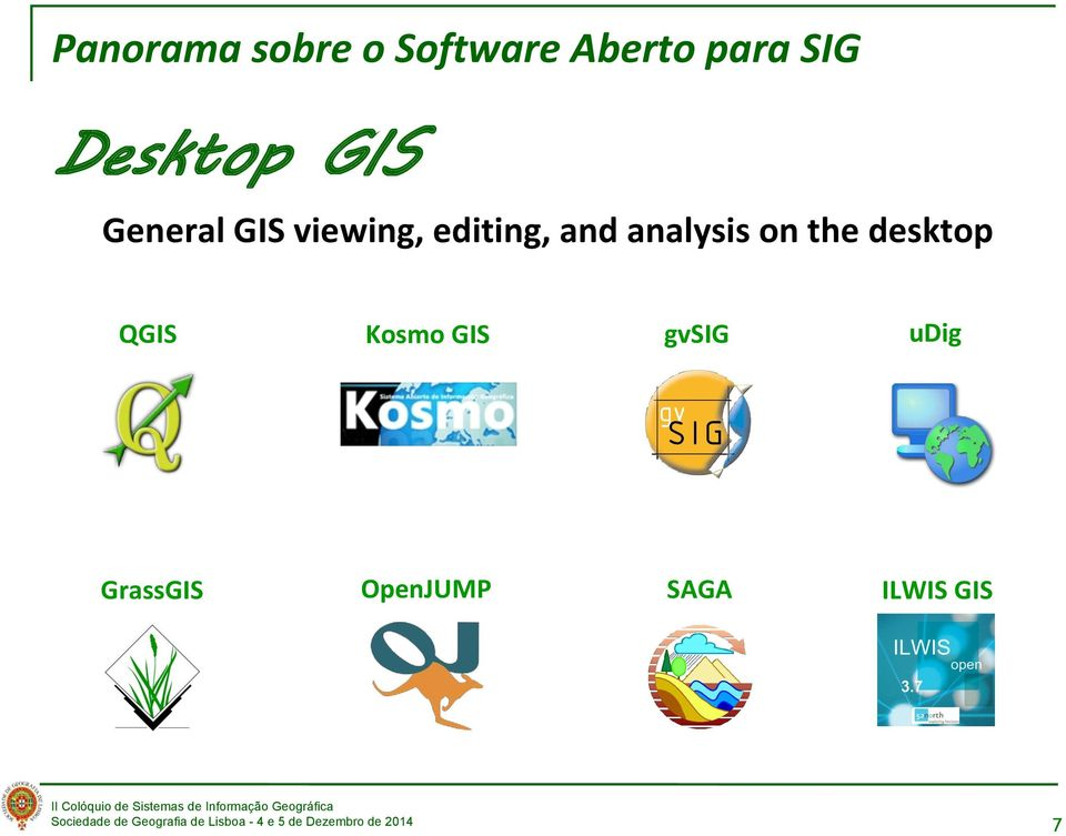 and analysis on the desktop QGIS Kosmo GIS