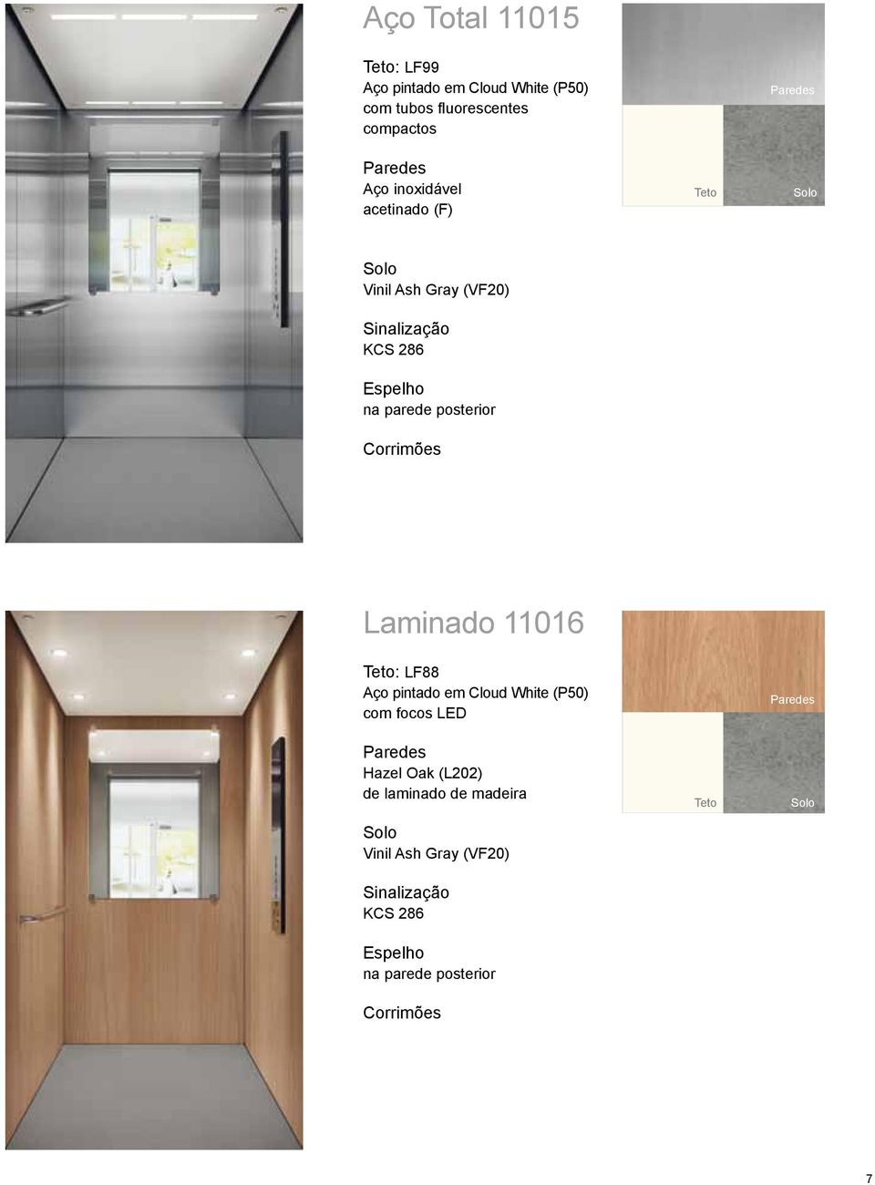 Gray (VF20) Laminado 11016 : LF88 com focos LED