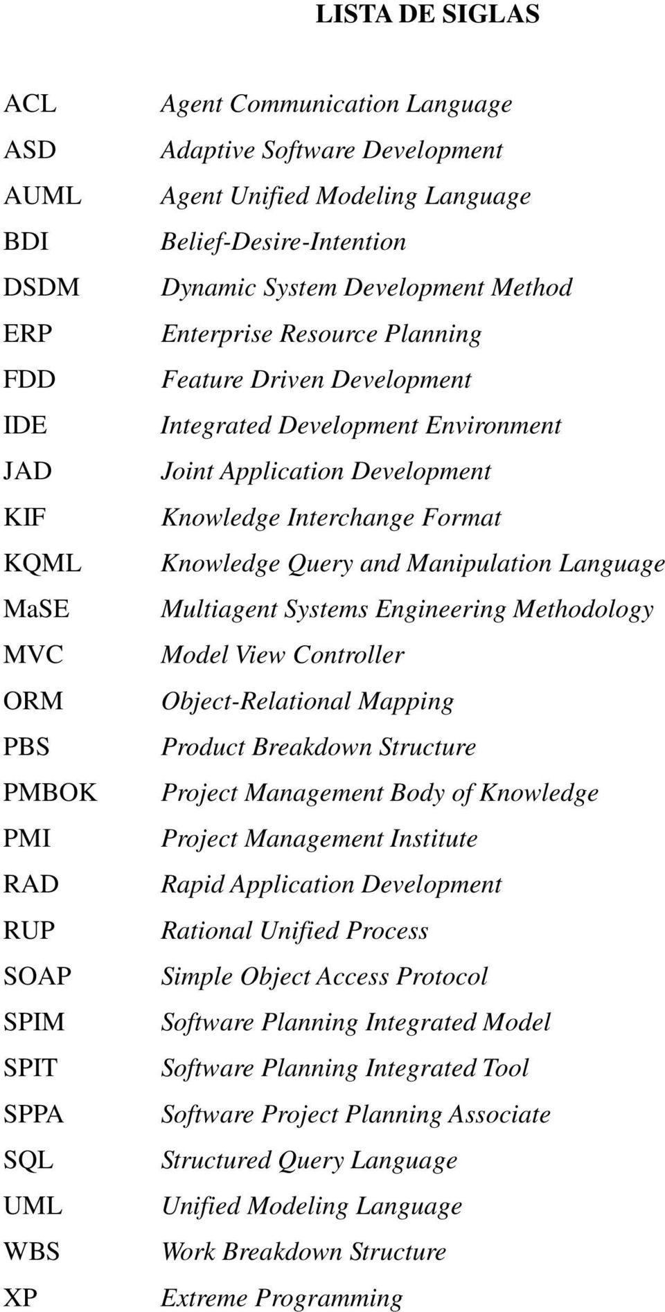 Development Knowledge Interchange Format Knowledge Query and Manipulation Language Multiagent Systems Engineering Methodology Model View Controller Object-Relational Mapping Product Breakdown