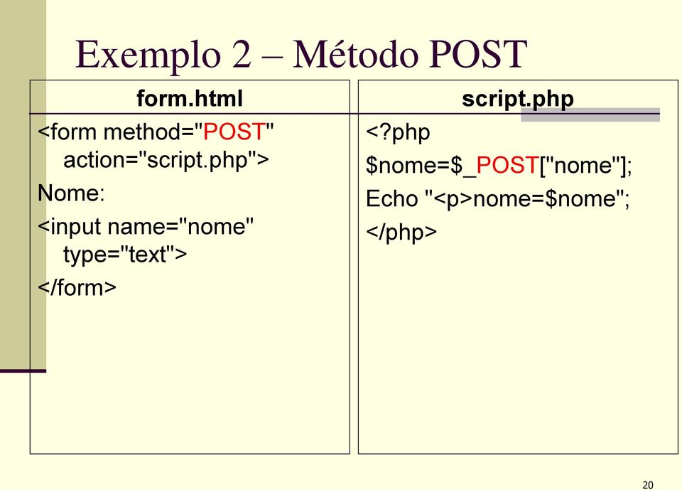 "php""> Nome: <input name=""nome"" type=""text"">"