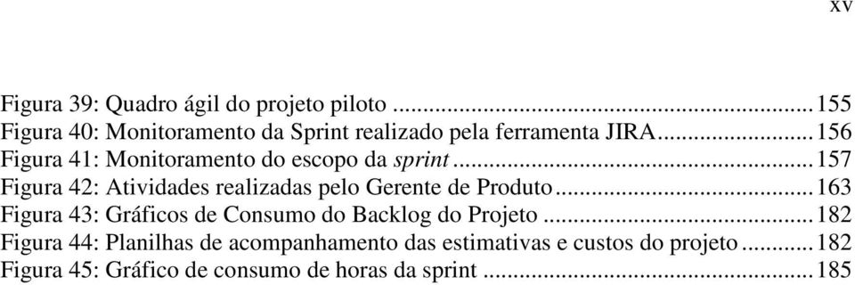 .. 156 Figura 41: Monitoramento do escopo da sprint.