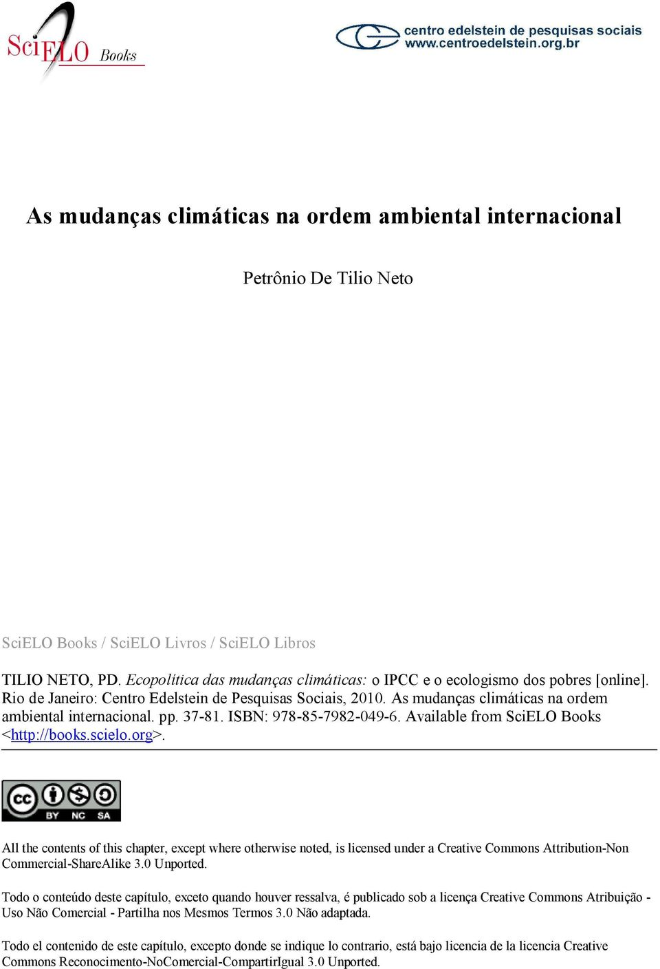 pp. 37-81. ISBN: 978-85-7982-049-6. Available from SciELO Books <http://books.scielo.org>.