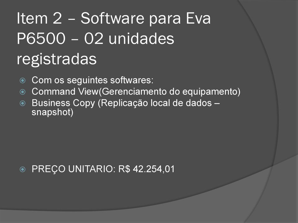View(Gerenciamento do equipamento) Business Copy