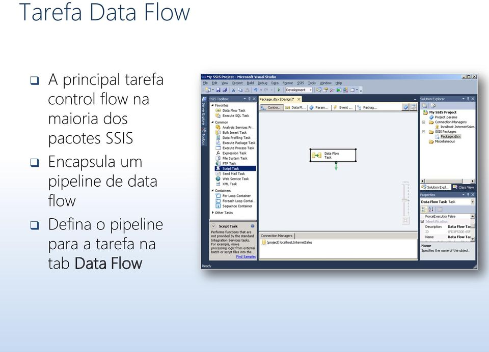 SSIS Encapsula um pipeline de data flow
