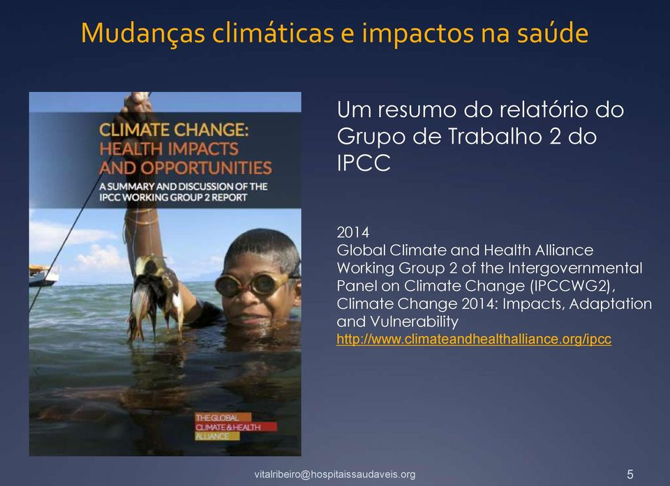 the Intergovernmental Panel on Climate Change (IPCCWG2), Climate Change 2014: