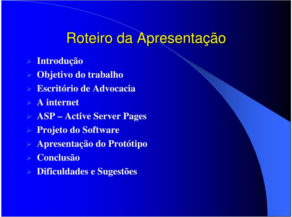 Active Server Pages Projeto do Software