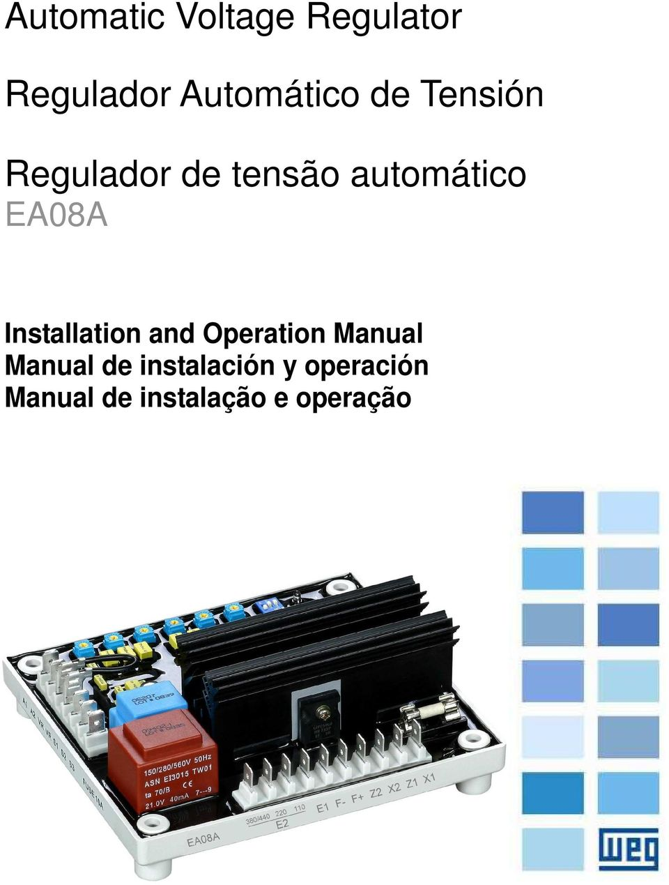 Installation and Operation Manual Manual de