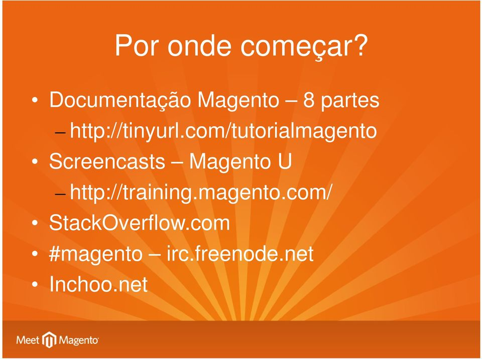 com/tutorialmagento Screencasts Magento U