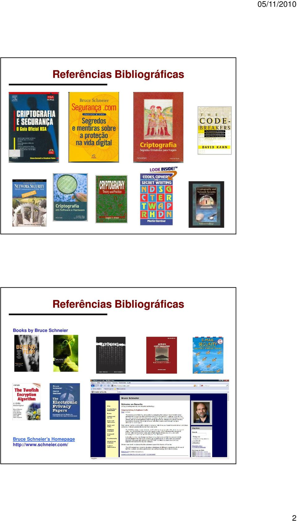 Bibliográficas Books by Bruce