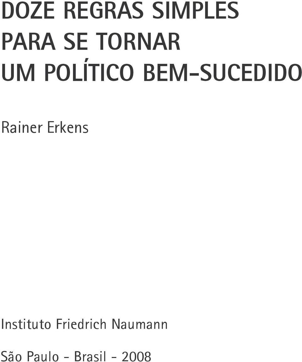 Rainer Erkens Instituto