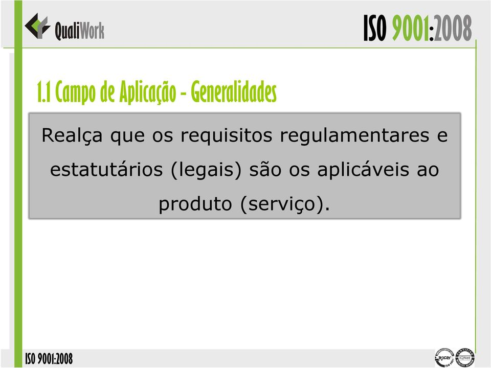 requisitos regulamentares e